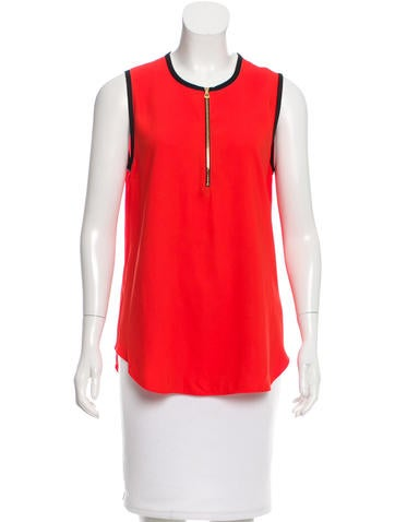 L'Agence Sleeveless Contrast Top None