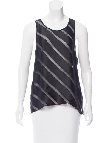 L'Agence Sleeveless Fil Coupé Top None