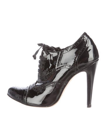 L'Agence Patent Leather Pointed-Toe Booties None