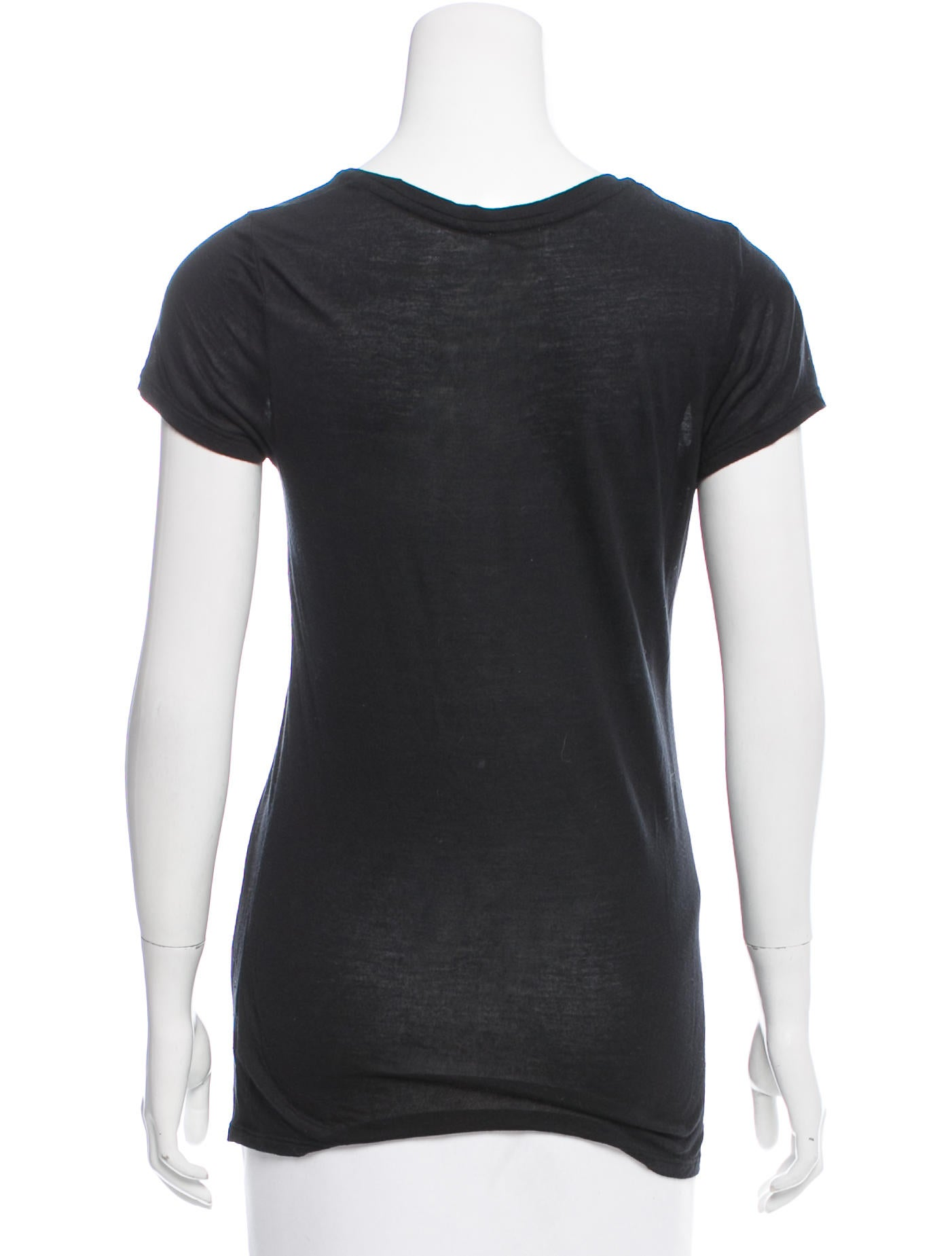 L 39 agence short sleeve scoop neck t shirt clothing for Scoop neck t shirt