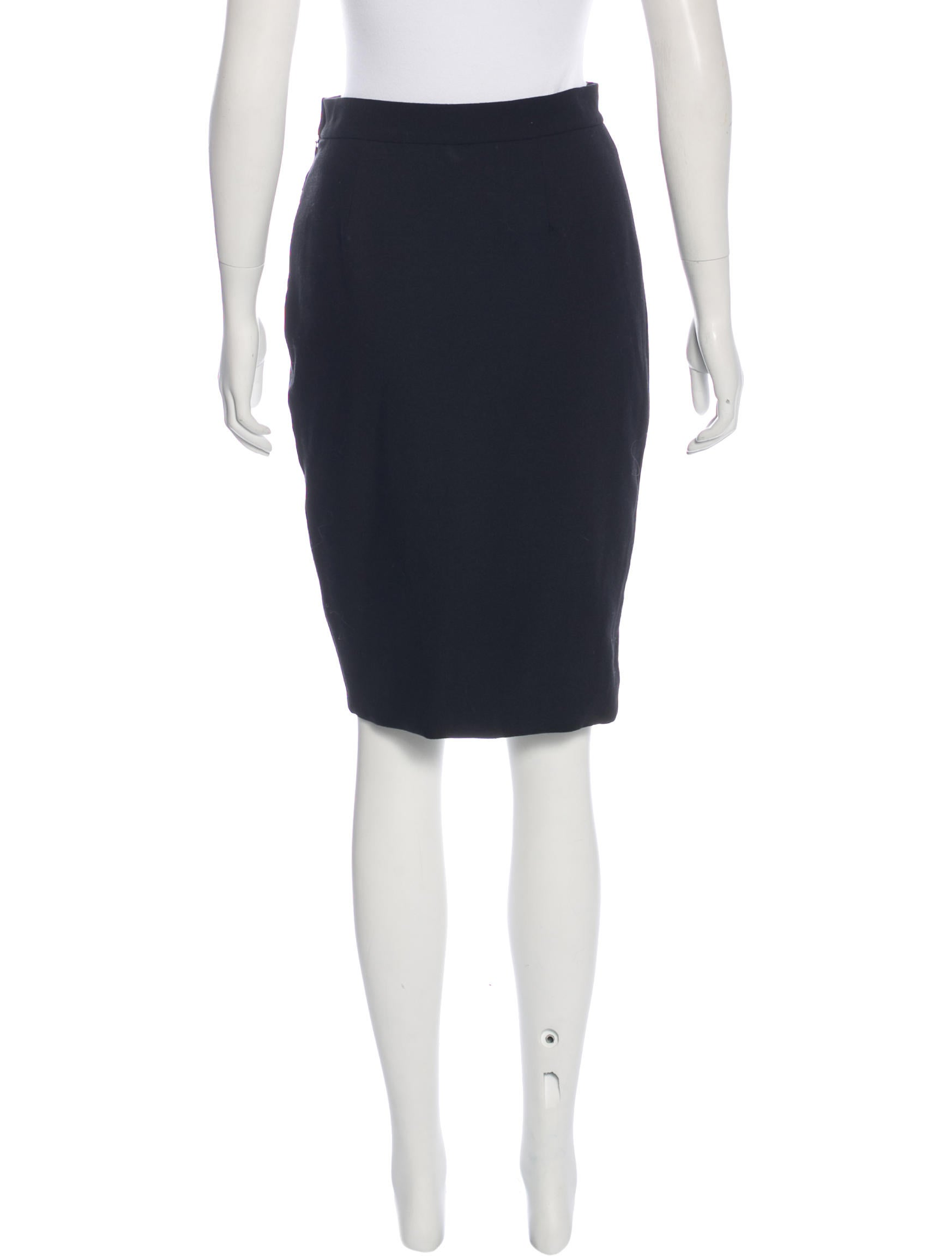 l agence knee length pencil skirt clothing wl327024