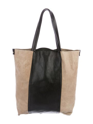 L'Agence Bicolor Leather Tote None