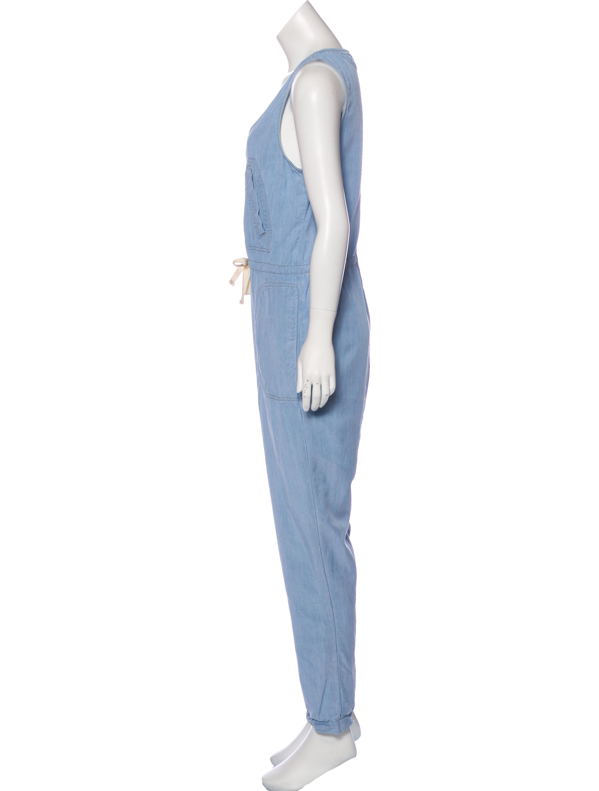 lagence sleeveless denim jumpsuit clothing wl327512