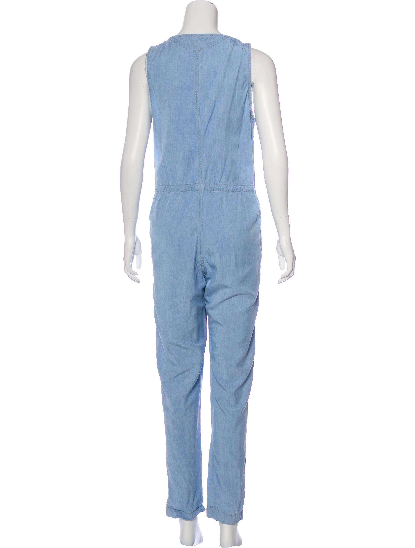 lagence sleeveless denim jumpsuit clothing wl327512