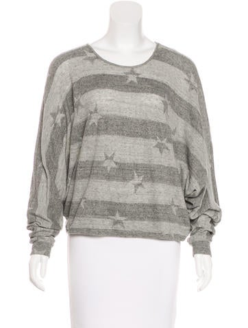 L'Agence Patterned Dolman Top None