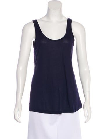 L'Agence Jersey Sleeveless Top None