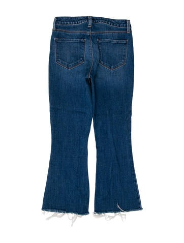 Frayed Mid-Rise Jeans