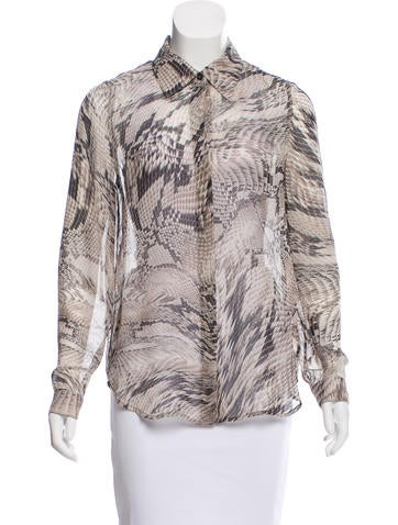 L'Agence Silk Oversize Top None
