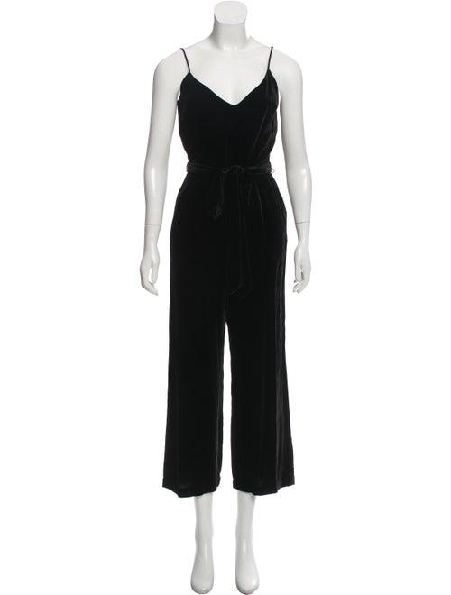 L'Agence Jaelyn Velvet Jumpsuit w/ Tags Black