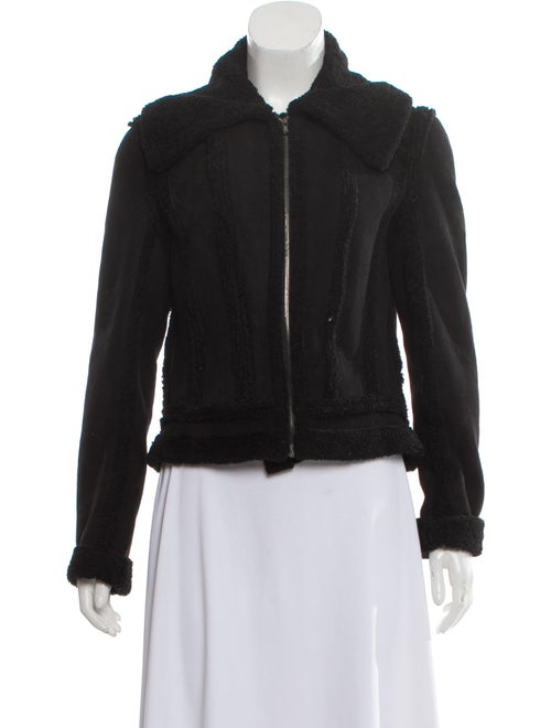 L'Agence Shearling Jacket Black - image 1
