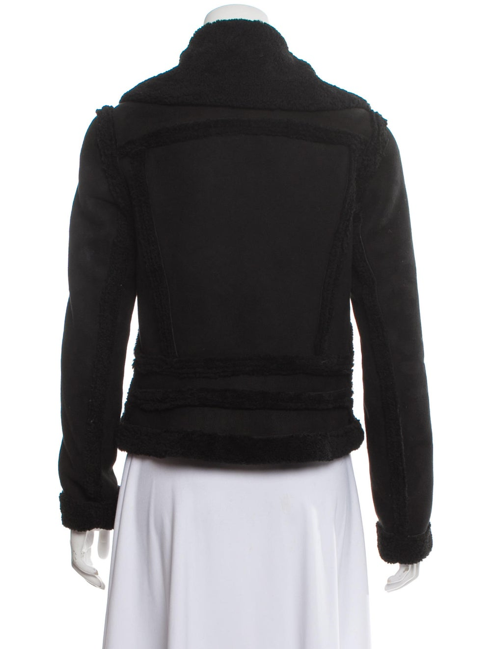 L'Agence Shearling Jacket Black - image 3