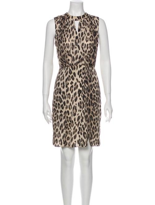 L'Agence Animal Print Mini Dress