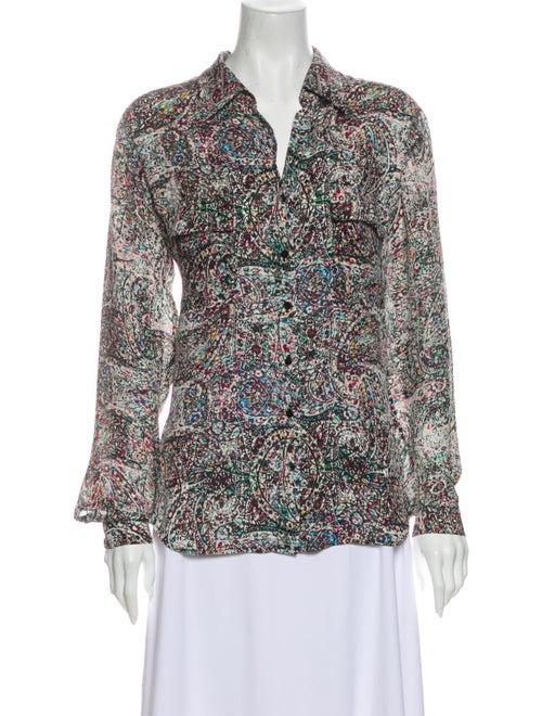 L'Agence Silk Printed Blouse White