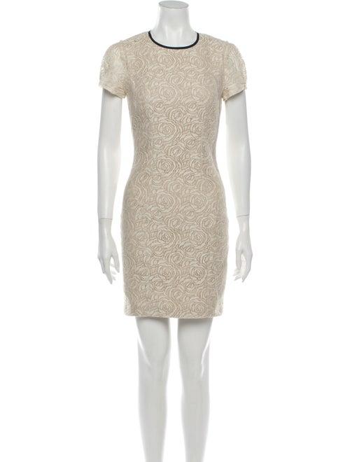 L'Agence Lace Pattern Mini Dress