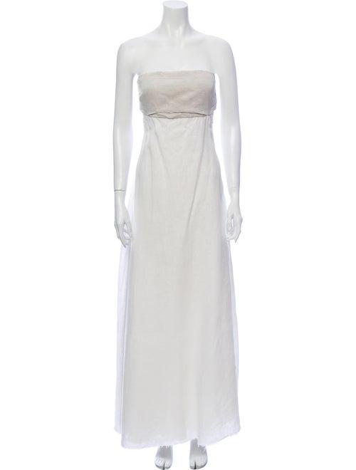 L'Agence Linen Long Dress