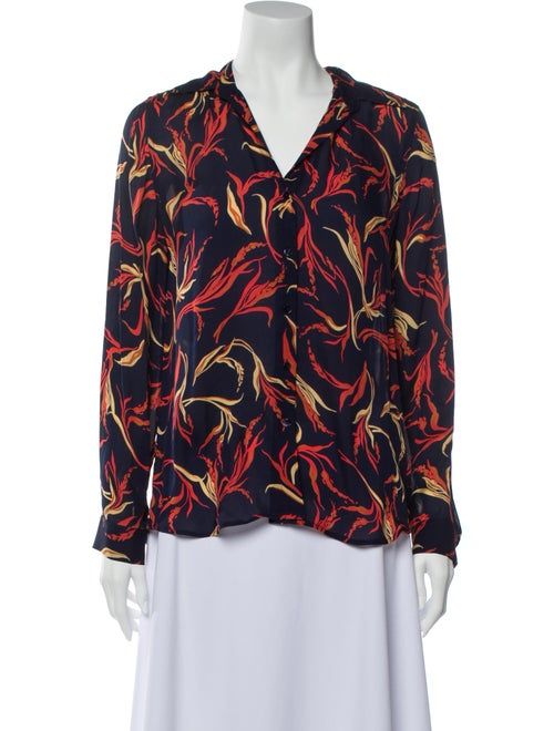 L'Agence Silk Printed Blouse Red