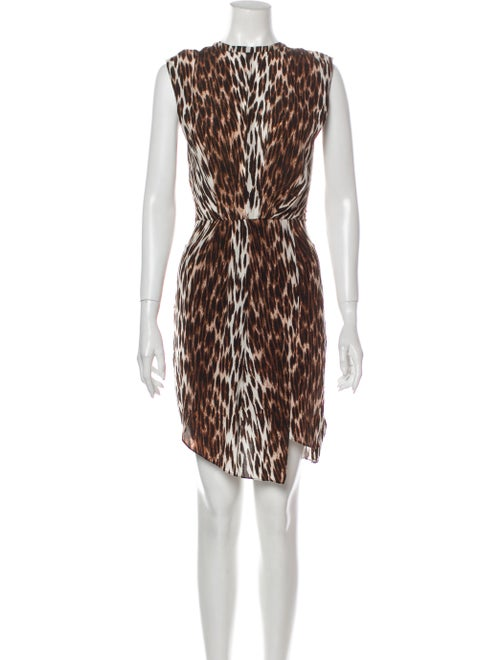 L'Agence Silk Mini Dress Brown