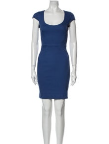 L'Agence Scoop Neck Mini Dress