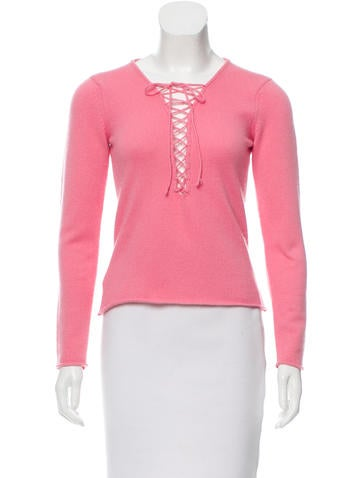 Lucien Pellat-Finet Cashmere Lace-Up Sweater None