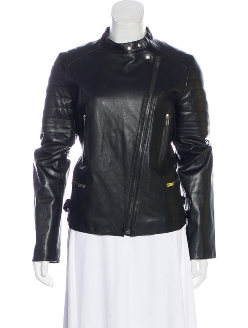 Lucien Pellat-Finet Leather Moto Jacket Black
