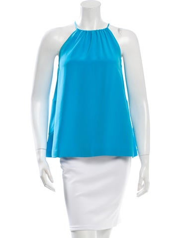 Lisa Perry Silk Gathered Blouse None