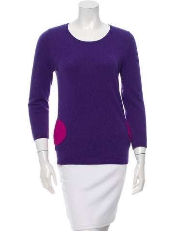 Lisa Perry Cashmere Rib Knit-Trimmed Sweater None
