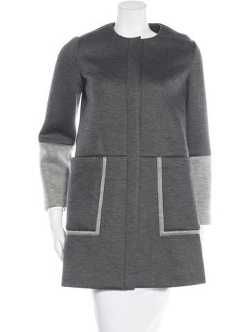 Lisa Perry Two-Tone Knit Coat None