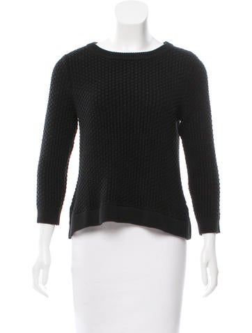 Lisa Perry Woven Long Sleeve Sweater
