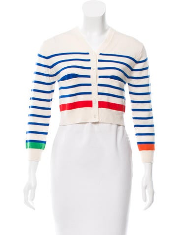 Lisa Perry Striped Wool Cardigan None