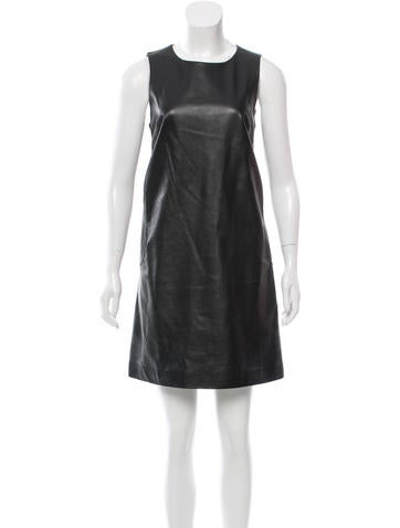 Lisa Perry Sleeveless Leather Dress None