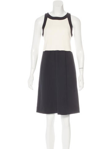 Lisa Perry Wool Colorblock Dress None