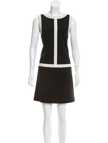 Lisa Perry Sleeveless Wool Dress None