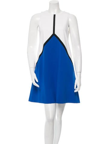 Lisa Perry Sleeveless Colorblock Dress None