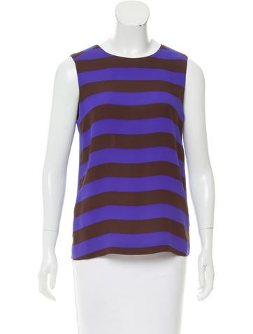 Lisa Perry Striped Silk Top None