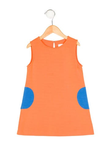 Lisa Perry Girls' Sleeveless Colorblock Dress None