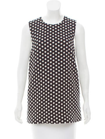 Lisa Perry Polka Dot Sleeveless Top None