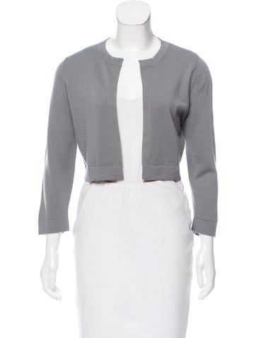 Lisa Perry Cropped Wool Cardigan None