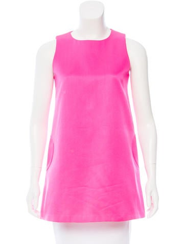 Lisa Perry Sleeveless Crew Neck Top None