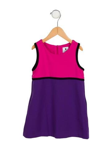 Lisa Perry Girls' Sleeveless Colorblock Dress None