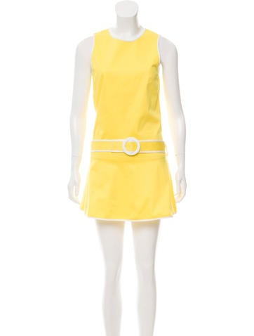 Lisa Perry Sleeveless Belted Tunic Top None