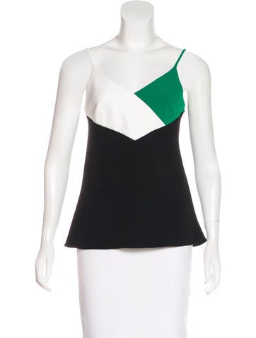 Lisa Perry Crepe Colorblock Top w/ Tags None