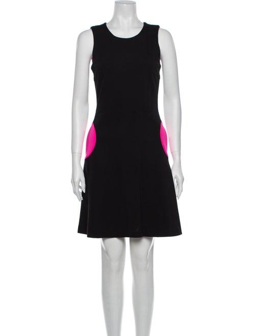 Lisa Perry Colorblock Pattern Mini Dress Black