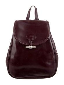bbaf8728448 Longchamp. Roseau Patent Leather Backpack