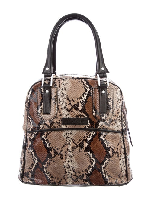 Longchamp Python Leather Tote Brown