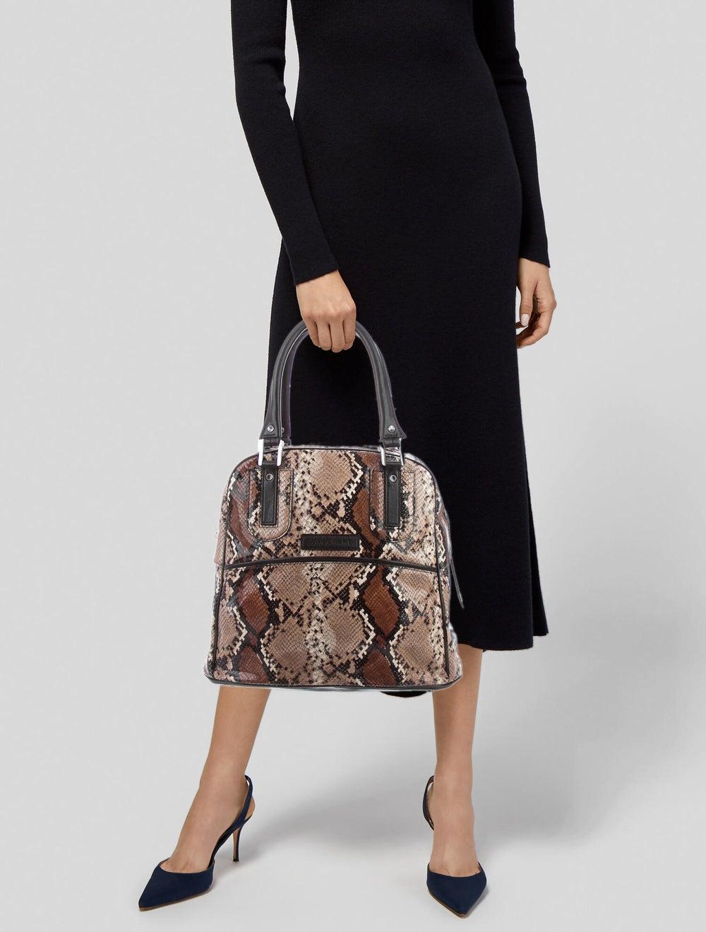 Longchamp Python Leather Tote Brown - image 2