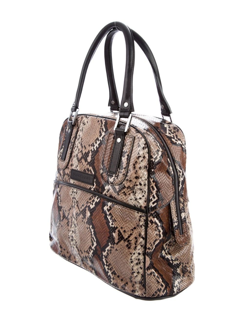 Longchamp Python Leather Tote Brown - image 3