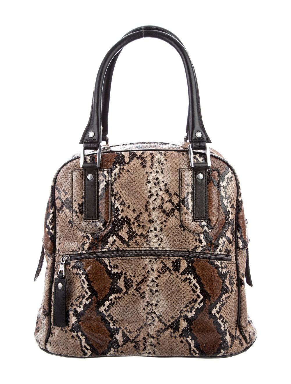 Longchamp Python Leather Tote Brown - image 4