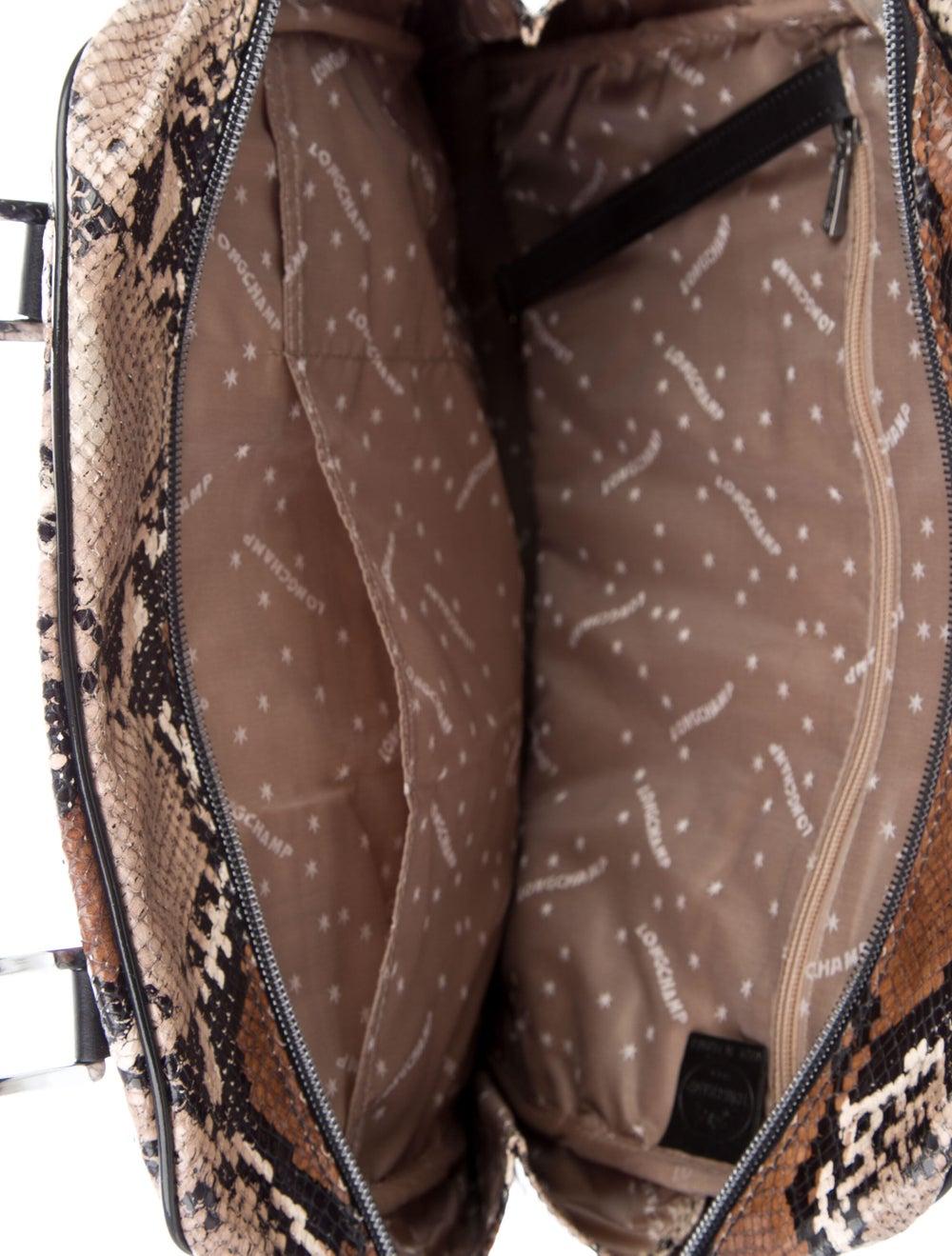 Longchamp Python Leather Tote Brown - image 5
