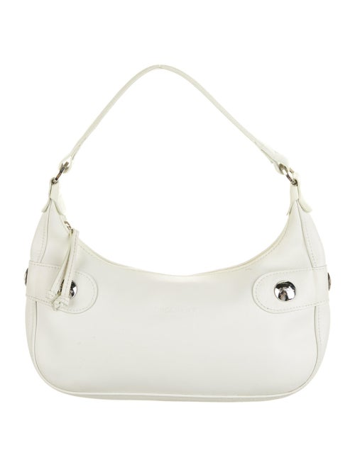 Longchamp Leather Shoulder Bag Silver