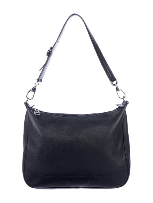 Longchamp Leather Shoulder Bag Black